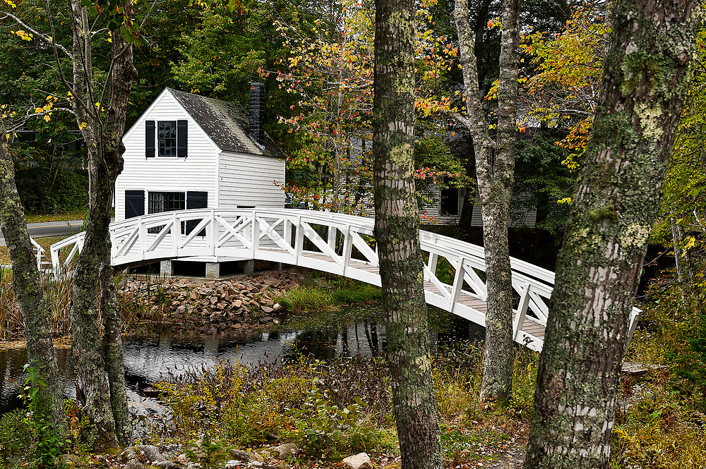 Footbridge, Somesville, Mount Desert Island, Maine