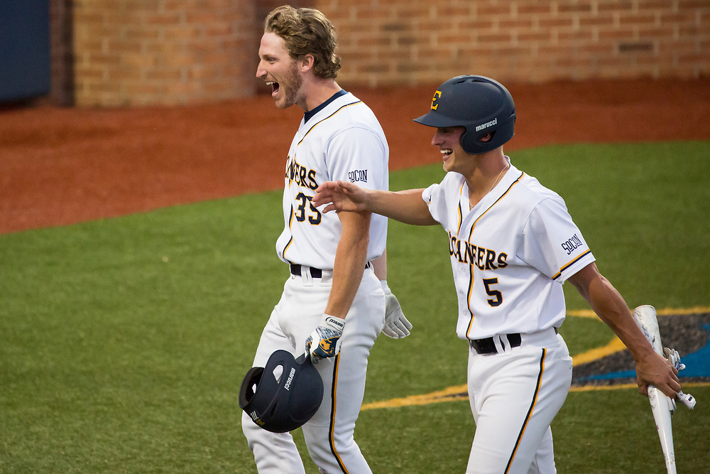 May 11, 2018 - Johnson City, Tennessee - Thomas Stadium: ETSU designated hitter Ethan Rice (35)<br /> <br /> Image Credit: Dakota Hamilton/ETSU