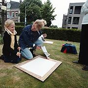 Dag van de architectuur 2000 Huizen, tekenles van Christa Rosier