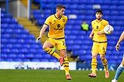 Milton Keynes Dons midfielder Jordan Houghton (24) looks to release the ball during the EFL Sky Bet League 1 match between Coventry City and Milton Keynes Dons at the Trillion Trophy Stadium, Birmingham, England on 11 January 2020.