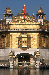 The Golden Temple at Amritsar; Punjab; India,