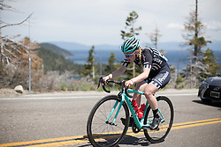 Lucy Shaw (GBR) of Drops Cycling Team rides up the Emerald Bay climb during the first, 117 km road race stage of the Amgen Tour of California - a stage race in California, United States on May 19, 2016 in South Lake Tahoe, CA.