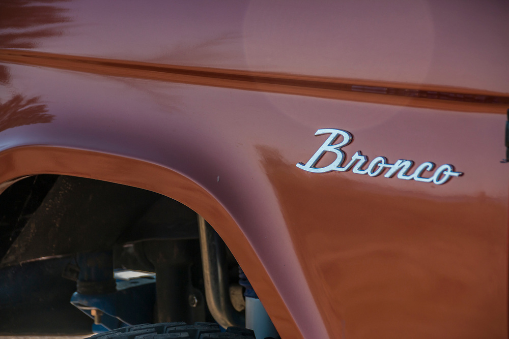detail of a classic Ford Bronco 4x4