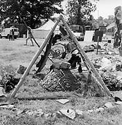 Mini pyramid, Glastonbury, Somerset, 1989