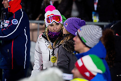 """Janica Kostelic during FIS Alpine Ski World Cup 2016/17 Men's Slalom race named """"Snow Queen Trophy 2017"""", on January 5, 2017 in Course Crveni Spust at Sljeme hill, Zagreb, Croatia. Photo by Ziga Zupan / Sportida"""