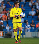 Dorus de Vries during the Sky Bet Championship match between Brighton and Hove Albion and Nottingham Forest at the American Express Community Stadium, Brighton and Hove, England on 7 August 2015.