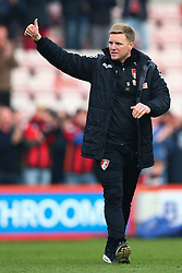 Bournemouth Manager Eddie Howe signals a thumbs up to the Bournemouth fans - Mandatory by-line: Jason Brown/JMP - Mobile 07966 386802 12/03/2016 - SPORT - FOOTBALL - Bournemouth, Vitality Stadium - AFC Bournemouth v Swansea City - Barclays Premier League