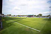general view of Macclesfield Town Stadium before the EFL Sky Bet League 2 match between Macclesfield Town and Morecambe at Moss Rose, Macclesfield, United Kingdom on 20 August 2019.