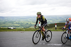 Grace Brown (AUS) with 100 metres to the top of Epynt, the final climb on Stage 5 of 2019 OVO Women's Tour, a 140 km road race from Llandrindod Wells to Builth Wells, United Kingdom on June 14, 2019. Photo by Sean Robinson/velofocus.com