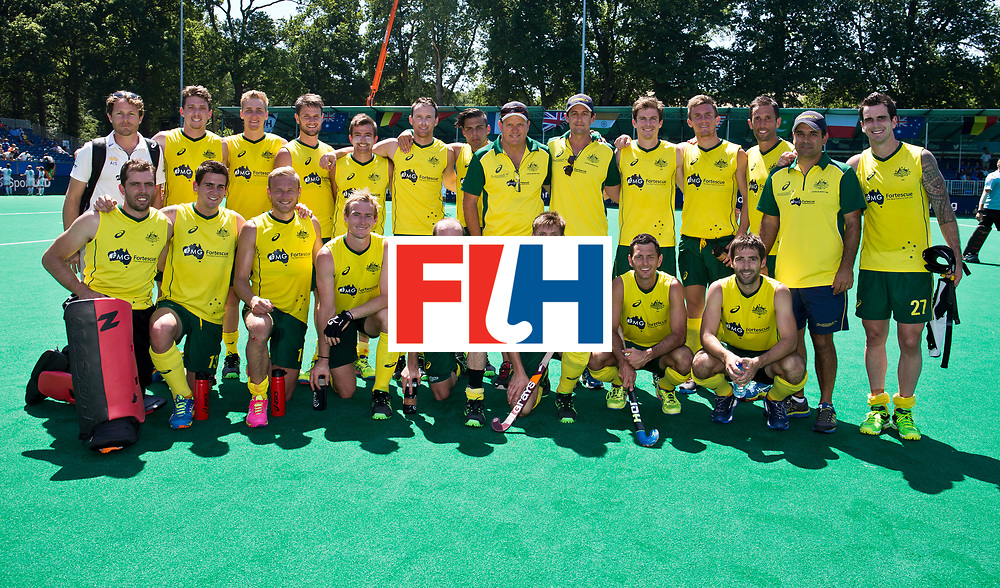 01/07/2015<br /> HWL Semi Final Antwerp Belgium 2015<br /> Australia v Ireland Men<br /> Kookaburras<br /> Photo: Grant Treeby