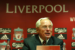 Liverpool, England - Tuesday, February 6th, 2007: George Gillett at a press conference after announcing his take-over of Liverpool Football Club in a deal worth around £470 million. Texan billionaire Hicks, who owns the Dallas Stars ice hockey team and the Texas Rangers baseball team, has teamed up with Montreal Canadiens owner Gillett to put together a joint £450m package to buy out shareholders, service the club's existing debt and provide funding for the planned new stadium in Stanley Park. (Pic by Dave Kendall/Propaganda)