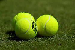 LONDON, ENGLAND - Monday, June 23, 2008: Slazenger tennis balls during day one of the Wimbledon Lawn Tennis Championships at the All England Lawn Tennis and Croquet Club. (Photo by David Rawcliffe/Propaganda)