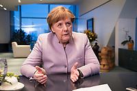 20 MAR 2017, BERLIN/GERMANY:<br /> Angela Merkel, CDU, Bundeskanzlerin, waehrend einem Interview, in ihrem Buero, Bundeskanzleramt<br /> IMAGE: 20170320-01-002<br /> KEYWORDS: B&uuml;ro