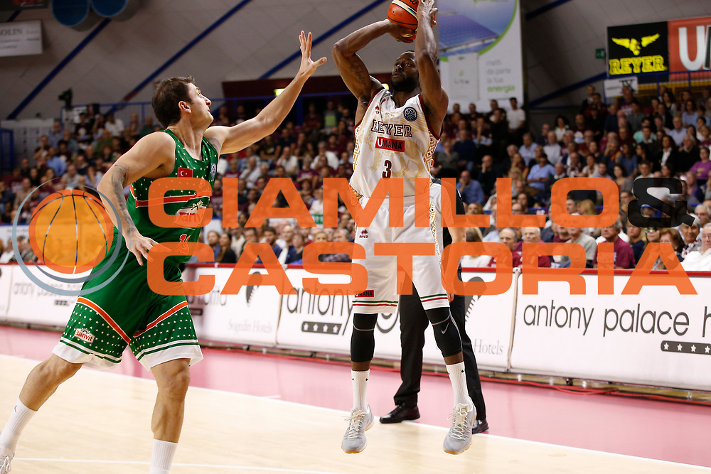 Johnson Dominique<br /> Umana Reyer Venezia vs Banvit<br /> FIBA Basketball Champions League 2017/2018<br /> Venezia,  10/10/2017<br /> Foto Ciamillo-Castoria/A. Gilardi