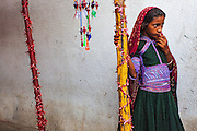 Portrait of a girl at a wedding ceremony in a village in Bhuj region of Gujarat