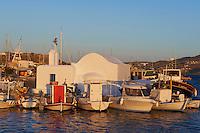 Grece, les Cyclades, ile de Paros, port et village de Naoussa // Greece, Cyclades islands, Paros island, village and port of Naoussa