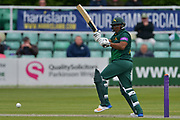 Samit Patel pulls during the Royal London 1 Day Cup match between Worcestershire County Cricket Club and Nottinghamshire County Cricket Club at New Road, Worcester, United Kingdom on 27 April 2017. Photo by Simon Trafford.