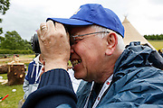 Michael Caulfield takes a picture during the Caulfield/Mulryan family reunion at Ardenode Stud, County Kildare, Ireland on Sunday, June 23rd 2013. (Photo by Brian Garfinkel)