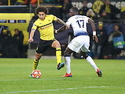 Axel Witsel of Borussia Dortmund against Moussa Sissoko of Tottenham Hotspur during the Champions League round of 16, leg 2 of 2 match between Borussia Dortmund and Tottenham Hotspur at Signal Iduna Park, Dortmund, Germany on 5 March 2019.