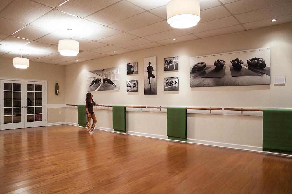 Yoga studio photography installation