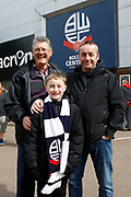Fans arrive for the crunch EFL Sky Bet League 1 match between Bolton Wanderers and Peterborough United at the Macron Stadium, Bolton, England on 30 April 2017. Photo by Craig Galloway.