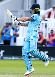Ben Stokes of England goes on the attack - Mandatory by-line: Robbie Stephenson/JMP - 14/07/2019 - CRICKET - Lords - London, England - England v New Zealand - ICC Cricket World Cup 2019 - Final