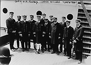Capt. A.H. Rostron and under officers of 'Carpathia'. Date Created/Published: 1912 May 29.