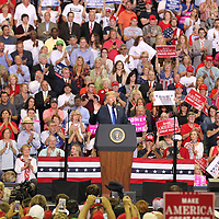 President Donald Trump held a rally for Senator Cindy Hyde Smith and the Mississippi Republican Party Tuesday night in Southaven.