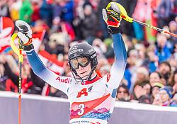 26.01.2020, Streif, Kitzbühel, AUT, FIS Weltcup Ski Alpin, Slalom, Herren, 2. Lauf, im Bild Clement Noel (FRA) // Clement Noel of France reacts after his 2nd run in the men's Slalom of FIS Ski Alpine World Cup at the Streif in Kitzbühel, Austria on 2020/01/26. EXPA Pictures © 2020, PhotoCredit: EXPA/ Stefan Adelsberger