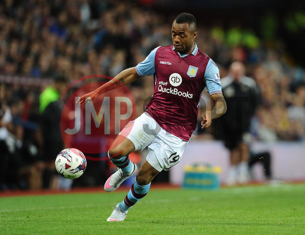 Jordan Ayew of Aston Villa  - Mandatory byline: Joe Meredith/JMP - 07966386802 - 25/08/2015 - FOOTBALL - Villa Park -Birmingham,England - Aston Villa v Notts County - Capital One Cup - Second Round