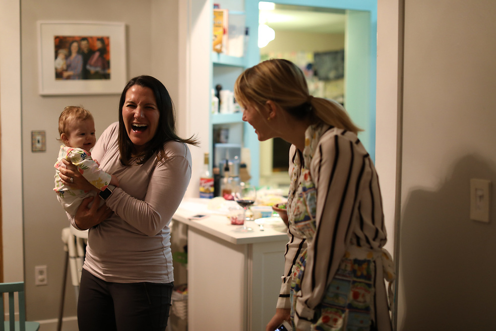 LOUISVILLE, Ky., -- Gemma gets a bath and meets Cassie Temple and Blake her 8 month old, Thursday, Nov. 30, 2017 at the BIrchwood BnB in LOUISVILLE.
