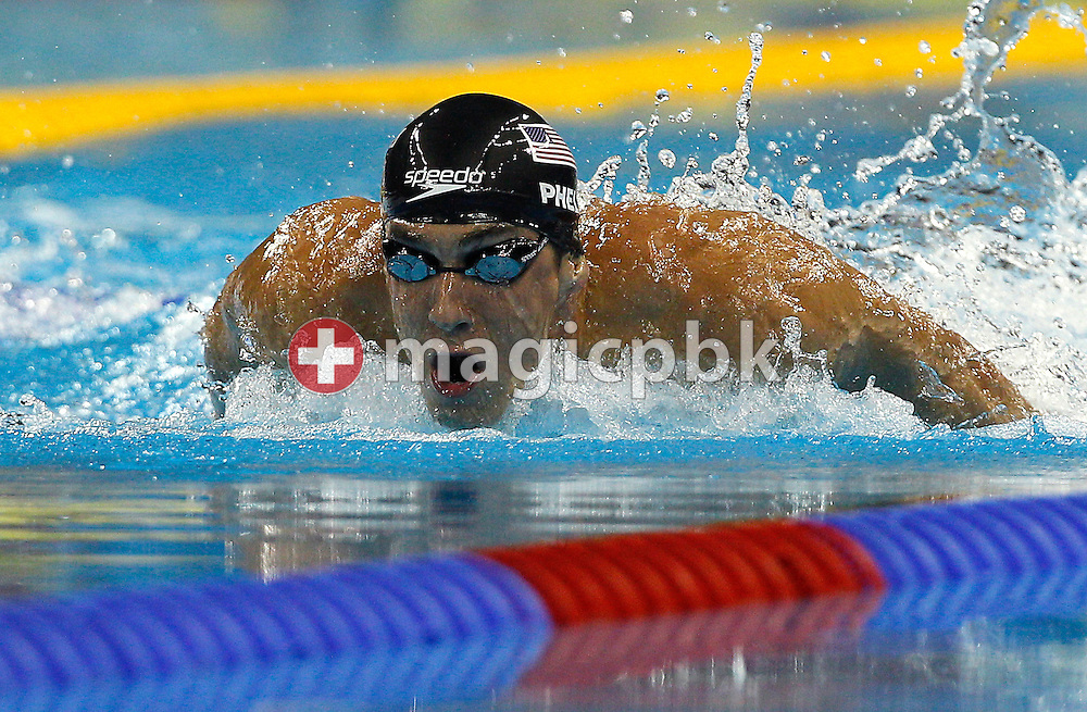 Michael PHELPS of the United States of America (USA) competes in the men's 200m Butterfly Semifinal during the 14th FINA World Aquatics Championships at the Oriental Sports Center in Shanghai, China, Tuesday, July 26, 2011. (Photo by Patrick B. Kraemer / MAGICPBK)