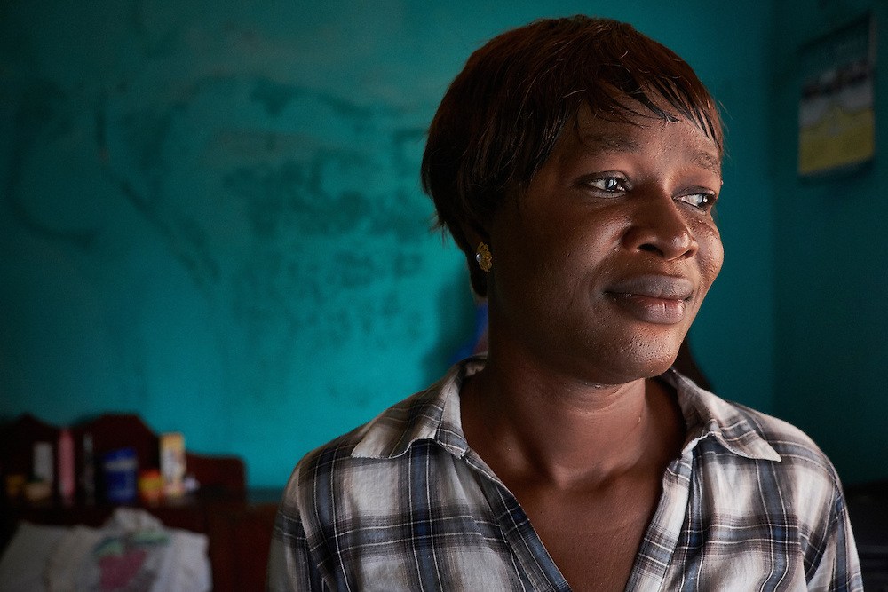 Odia Samoura at her home in Conakry, Guinea on March 18, 2016. MSF launched a HIV testing campaign in Conakry with the support of health authorities moving throughout several neighbourhoods throughout 2016.<br /> <br /> &quot;I learnt in 2005 that I was HIV positive when I for a medical checkup and found out. My father received the results from tests but did not tell me. I returned to the hospital again with a friend of my mother and was tested again and then was when I learnt I was HIV positive. I was stigmatised by my Aunty at first, today though I don't face problems. I am a counsellor in an MSF treatment centres for those who come for HIV tests.&quot;<br /> <br /> Despite countries in West and Central Africa having a relatively low HIV prevalence (