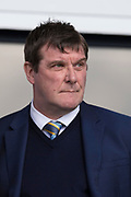 21st April 2018, Dens Park, Dundee, Scotland; Scottish Premier League football, Dundee versus St Johnstone; St Johnstone manager Tommy Wright