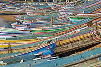 Inde, Etat du Kerala, Vizhinjam, port de peche pres de Kovalam// India, Kerala state, Vizhinjam, fishing harbour near Kovalam