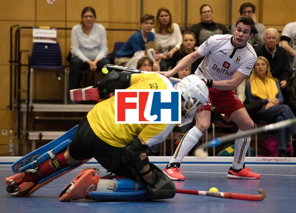 BERLIN - Indoor Hockey World Cup<br /> Austria - Belgium<br /> foto: DYKMANS Gaetan<br /> WORLDSPORTPICS COPYRIGHT FRANK UIJLENBROEK