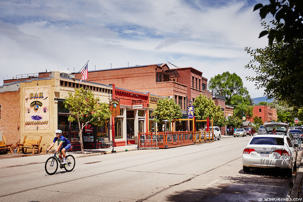 Main Street in Carbondale, Colorado.