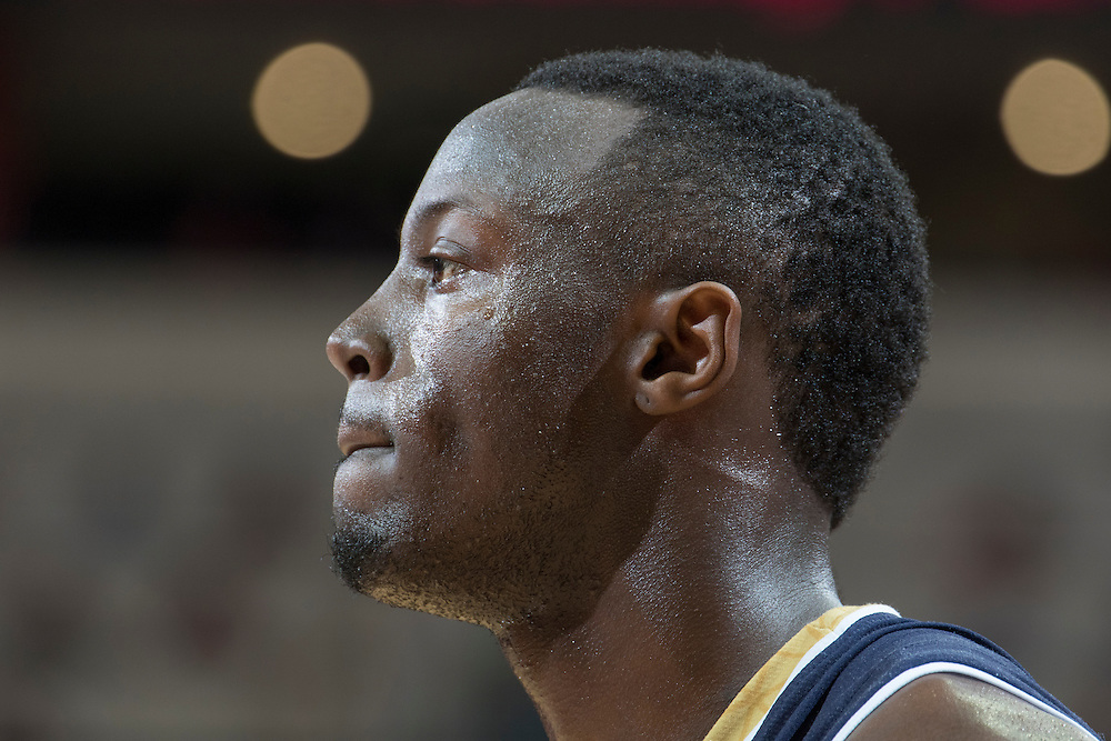 Notre Dame guard Jerian Grant.<br /> <br /> The University of Louisville hosted Notre Dame, Wednesday, March 04, 2015 at Yum Center in Louisville. <br /> <br /> Photo by Jonathan Palmer