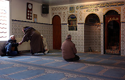 BRUSSELS, BELGIUM - MARCH-20-2005 - Muslims pray at a mosque in Brussels.