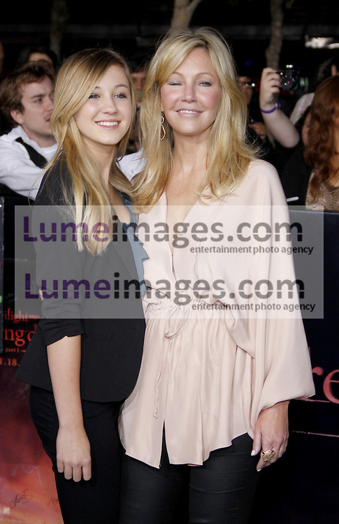 Heather Locklear and Ava Locklear at the Los Angeles premiere of 'The Twilight Saga: Breaking Dawn Part 1' held at the Nokia Theatre L.A. Live in Los Angeles on November 14, 2011. Credit: Lumeimages.com