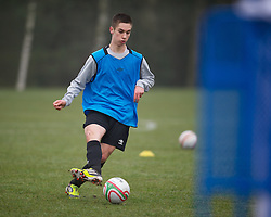 CARDIFF, WALES - Thursday, March 15, 2012: Wales U16's Tom Pearson (Cardiff City FC & St Josephs High School) during a training session at the Glamorgan Sports Park. (Pic by David Rawcliffe/Propaganda)