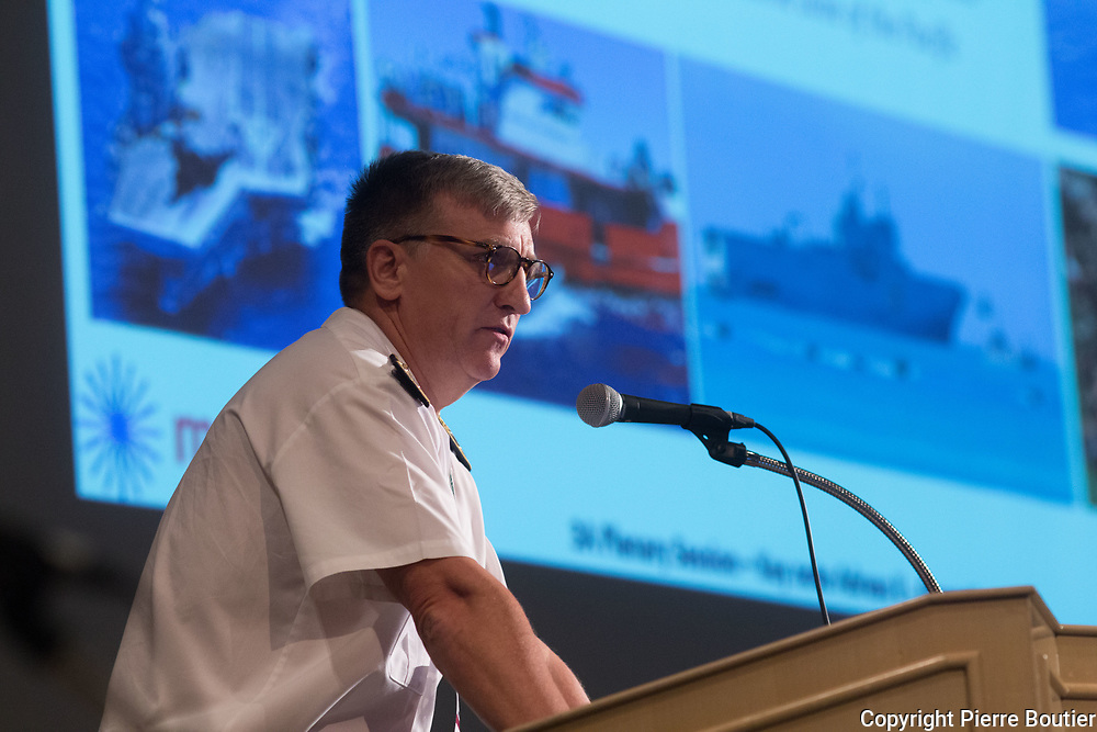 June 12 ,2017,Tokyo, Mast Asia  Maritime system and Technologies for securities and Safety ,  Rear Admiral Denis Bertrand, Commander, ALPACI, French Navy, France, since north Korean  crisis, maritime  defence  sector and  industries  growth, and  maritime defence , collaborate internationally sectors  . Pierre Boutier