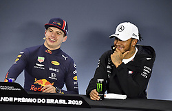 November 17, 2019, Sao Paulo, Brazil: Motorsports: FIA Formula One World Championship 2019, Grand Prix of Brazil, . #33 Max Verstappen (NLD, Aston Martin Red Bull Racing), #44 Lewis Hamilton (GBR, Mercedes AMG Petronas Motorsport) (Credit Image: © Hoch Zwei via ZUMA Wire)