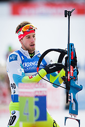 Lenart Oblak (SLO) during Men 10 km Sprint of the IBU Biathlon World Cup Pokljuka on December 17, 2015 in Pokljuka, Slovenia. Photo by Ziga Zupan / Sportida