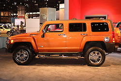 08 February 2007: Hummer H3. The Chicago Auto Show is a charity event of the Chicago Automobile Trade Association (CATA) and is held annually at McCormick Place in Chicago Illinois.