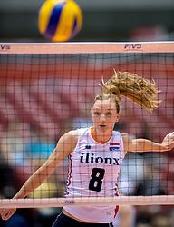 17-05-2016 JAP: OKT Thailand - Nederland, Tokio<br /> Nederland verslaat Thailand met klinkende cijfers 3-0 en is weer op koers voor Rio / Judith Pietersen #8