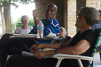 """The Jackson Park Advisory Council held a """"pot luck"""" dinner and meeting Monday evening at the Iowa Building in Jackson Park in front of the Museum of Science and Industry. The purpose of the meeting was to talk about park issues and get community feedback.<br /> <br /> 2844, 2851 – Dr. Dwight Powell and Jackson Park Advisory Council President, Loise Mcurry.<br /> <br /> Please 'Like' """"Spencer Bibbs Photography"""" on Facebook.<br /> <br /> All rights to this photo are owned by Spencer Bibbs of Spencer Bibbs Photography and may only be used in any way shape or form, whole or in part with written permission by the owner of the photo, Spencer Bibbs.<br /> <br /> For all of your photography needs, please contact Spencer Bibbs at 773-895-4744. I can also be reached in the following ways:<br /> <br /> Website – www.spbdigitalconcepts.photoshelter.com<br /> <br /> Text - Text """"Spencer Bibbs"""" to 72727<br /> <br /> Email – spencerbibbsphotography@yahoo.com"""