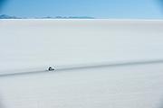 Road through the Salt desert. Salar de Uyuni
