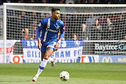 Gillingham forward Dominic Samuel looks for a pass during the Sky Bet League 1 match between Burton Albion and Gillingham at the Pirelli Stadium, Burton upon Trent, England on 30 April 2016. Photo by Aaron  Lupton.