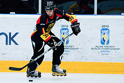Thomas Greilinger of Germany at IIHF In-Line Hockey World Championships Quarter final match between national teams of Sweden and Germany on July 1, 2010, in Karlstad, Sweden. (Photo by Matic Klansek Velej / Sportida)